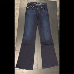 7 For All Mankind Short Inseam Karah Bootcut Jeans